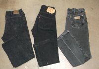 Black Denim Lee,Levis & Wrangler Jeans 40 LBS #4