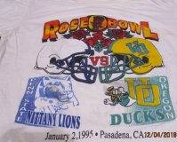 12-4-182 VINTAGE ROSE BOWL T-SHIRT 1995 USA size XL