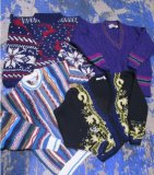 Fuzzy Colorful Vintage Sweaters 35 pcs 47 lbs