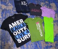Abercrombie Hollister & American Mix 76 pcs 24 lbs